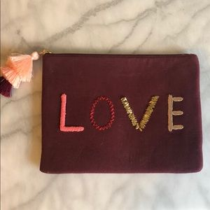 Stella & Dot Love Embroidered Clutch